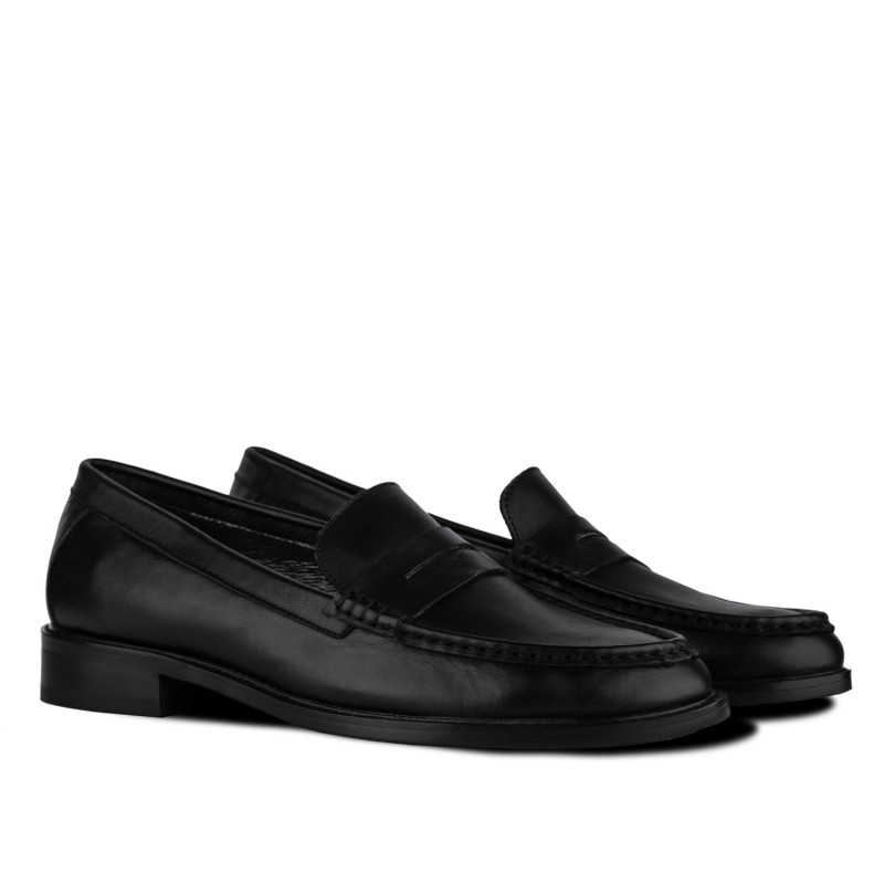 "RABBIT LOAFERS - SHOP ONLINE MEN'S LOAFERS ""MISTER black"" RTM-110-002"