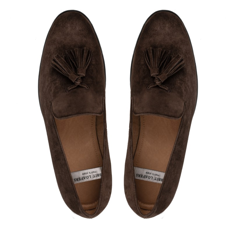 "RABBIT LOAFERS  - Онлайн магазин женской и мужской обуви МУЖСКИЕ ЛОФЕРЫ ""TASSEL brown"" RTM-110-006"