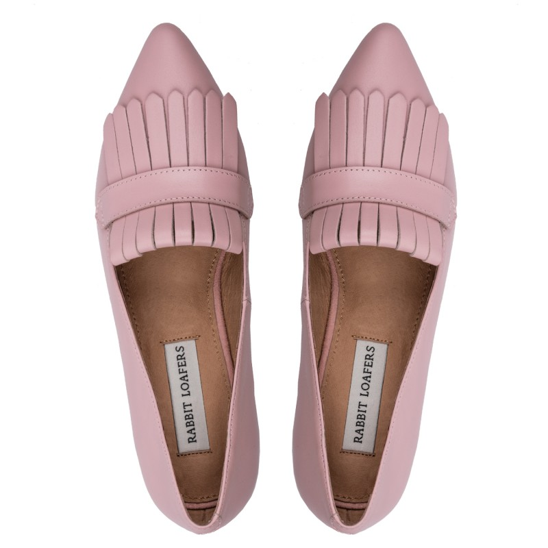 "RABBIT LOAFERS  - Онлайн магазин женской и мужской обуви ЛОФЕРЫ ЖЕНСКИЕ ""EDEN PINK"" RLW-110-021"