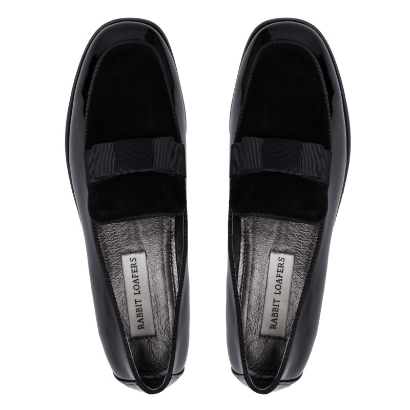 "RABBIT LOAFERS - SHOP ONLINE WOMAN'S LOAFERS, color ""MADAM BLACK"" RLW-110-015"