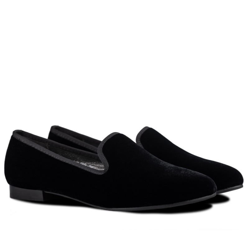 "RABBIT LOAFERS - SHOP ONLINE WOMAN'S LOAFERS, color ""VELVET BLACK"" RLW-110-008"