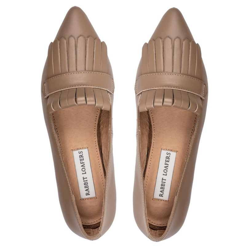 "RABBIT LOAFERS  - Онлайн магазин женской и мужской обуви ЛОФЕРЫ ЖЕНСКИЕ ""EDEN BEIGE"" RLW-110-020"