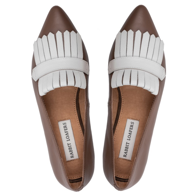 "RABBIT LOAFERS - SHOP ONLINE WOMAN'S LOAFERS, color ""EDEN BROWN"" RLW-110-022"