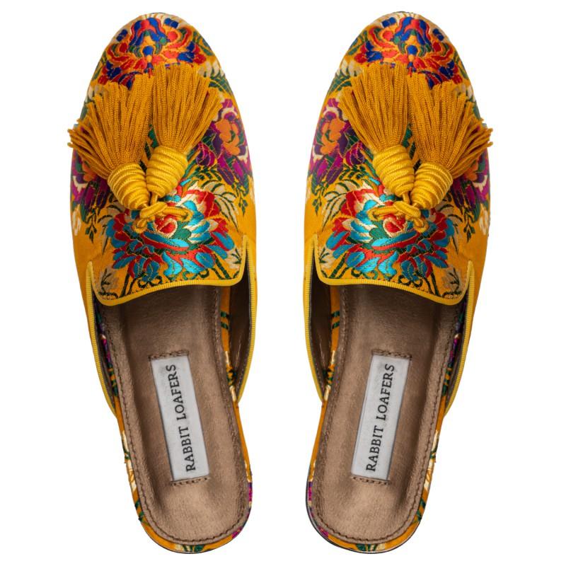 "RABBIT LOAFERS  - Онлайн магазин женской и мужской обуви МЮЛИ ЖЕНСКИЕ ""GARDEN YELLOW"" RLW-110-030"
