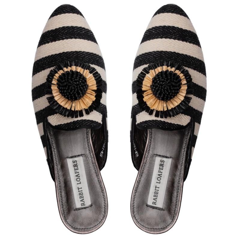 "RABBIT LOAFERS  - Онлайн магазин женской и мужской обуви МЮЛИ ЖЕНСКИЕ ""FIELD FLOWER"" RLW-110-036"