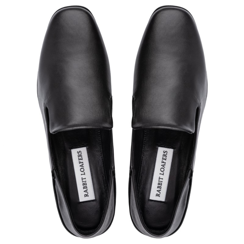 "RABBIT LOAFERS - SHOP ONLINE WOMAN'S LOAFERS, color ""TALSU BLACK"" RLW-110-995"