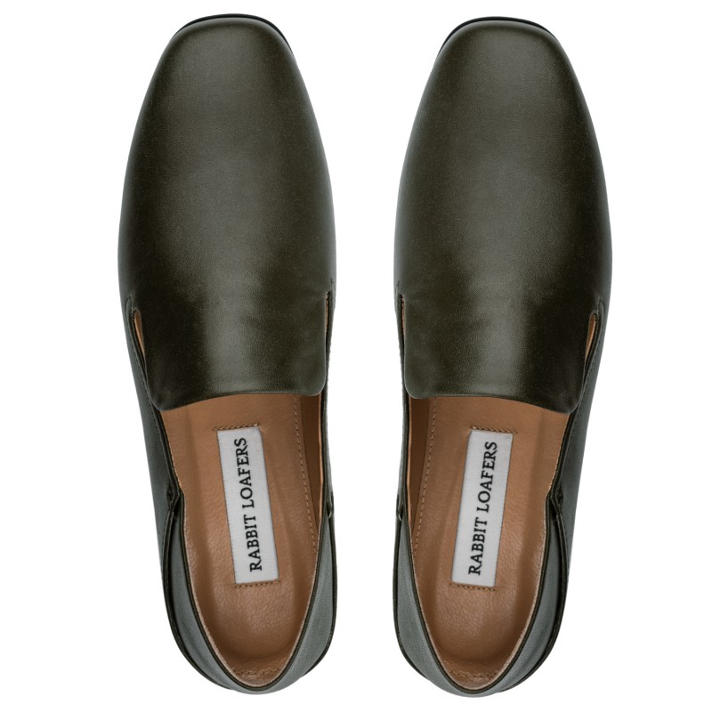 """RABBIT LOAFERS - SHOP ONLINE WOMAN'S LOAFERS, color """"TALSU green"""" RLW-110-994"""
