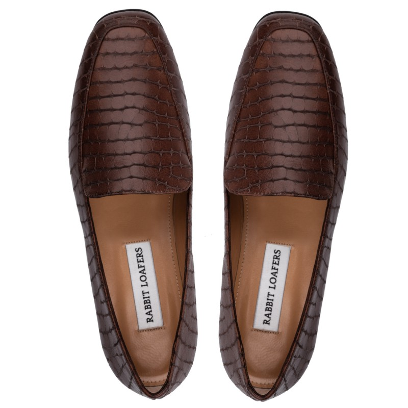 "RABBIT LOAFERS - SHOP ONLINE WOMAN'S LOAFERS, color ""RIGA brown"" RLW-110-991"
