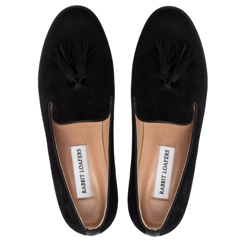 "RABBIT LOAFERS - SHOP ONLINE WOMAN'S LOAFERS, color ""VENTA black"" RLW-110-993"
