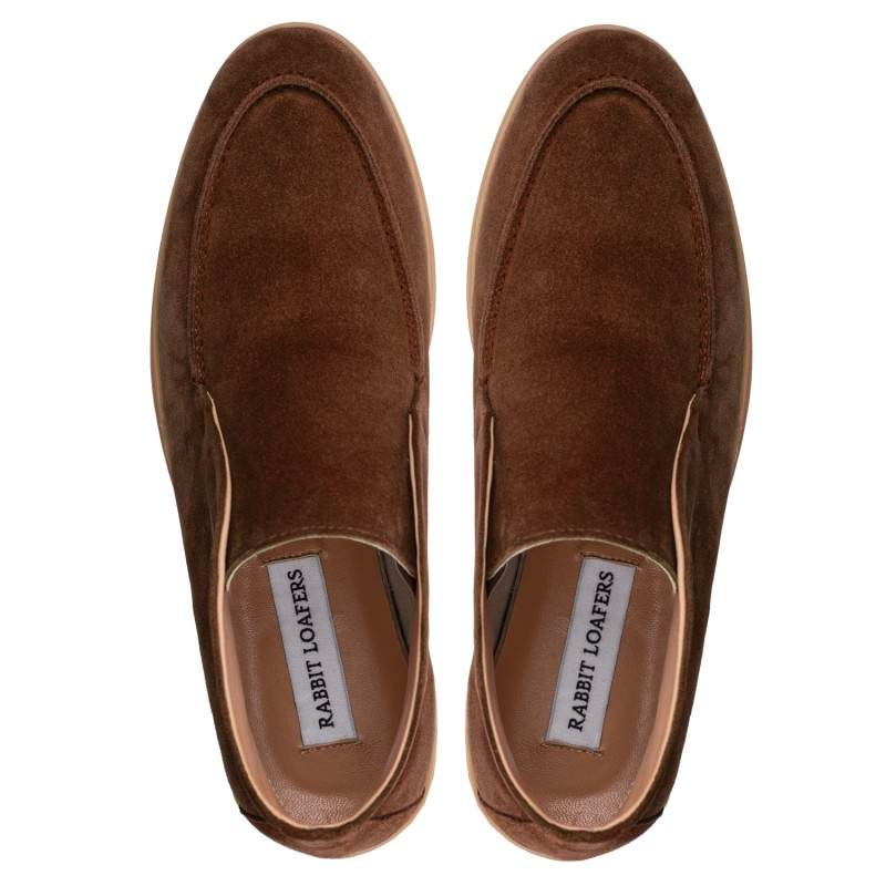 "RABBIT LOAFERS - SHOP ONLINE WOMAN'S LOAFERS, color ""ALPA BROWN-2"" RLW-110-986"