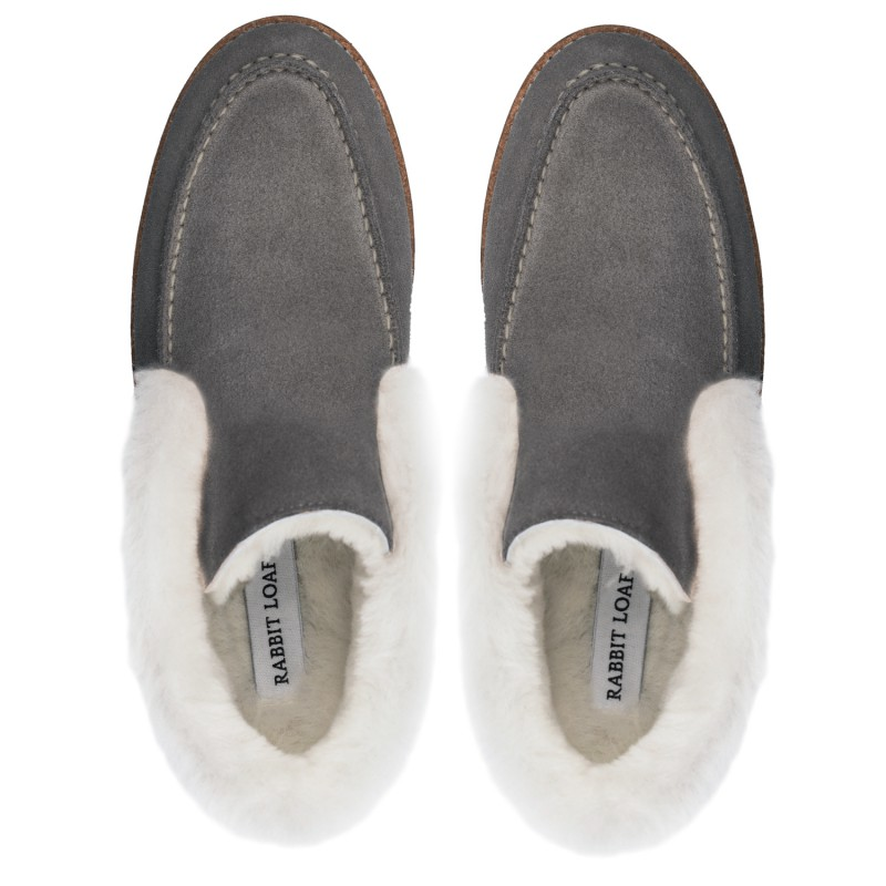"RABBIT LOAFERS  - Онлайн магазин женской и мужской обуви ЛОФЕРЫ ЖЕНСКИЕ ""TOSCA GREY 2"" RLW-110-964"