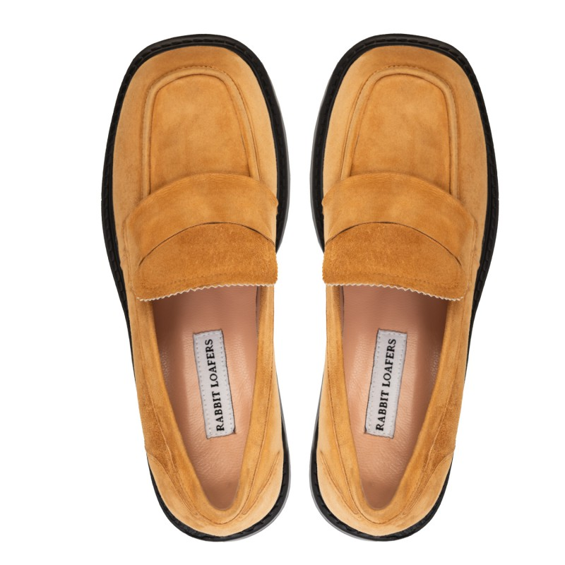 """RABBIT LOAFERS - SHOP ONLINE WOMAN""""S LOAFERS """"GLAMMY BROWN"""" RLW-109-004"""