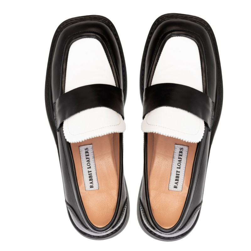 "RABBIT LOAFERS - SHOP ONLINE WOMAN""S LOAFERS ""GLAMMY W.BLACK"" RLW-109-003"