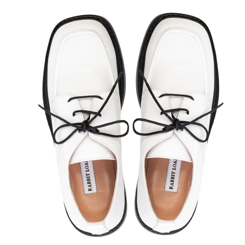 """RABBIT LOAFERS  - Онлайн магазин женской и мужской обуви ТУФЛИ ЖЕНСКИЕ """"GLAM WHITE"""" RLW-109-002"""