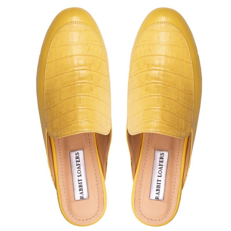 "RABBIT LOAFERS  - Онлайн магазин женской и мужской обуви МЮЛИ ЖЕНСКИЕ ""YUDI YELLOW"" RD-108-968"