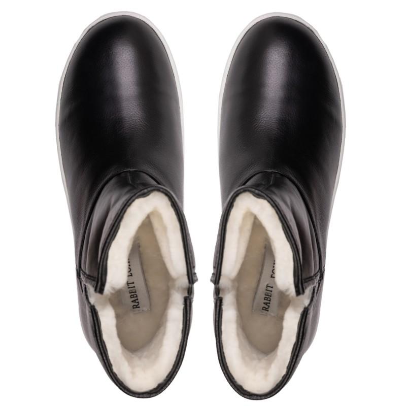 "RABBIT LOAFERS  - Онлайн магазин женской и мужской обуви ПОЛУСАПОГИ ЖЕНСКИЕ ""NILA BLACK"" RLW-108-037"