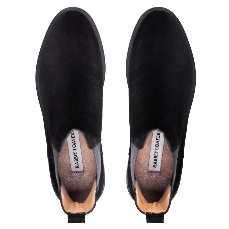 "RABBIT LOAFERS  - Онлайн магазин женской и мужской обуви ЧЕЛСИ ЖЕНСКИЕ ""SIL BLACK"" RLW-108-020"