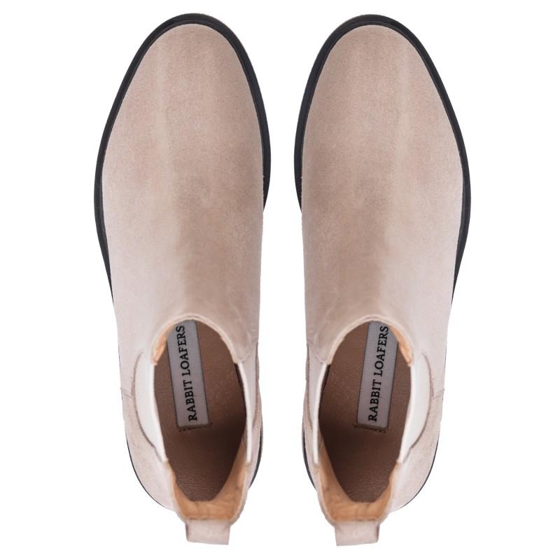 "RABBIT LOAFERS  - Онлайн магазин женской и мужской обуви ЧЕЛСИ ЖЕНСКИЕ ""SIL BEIGE"" RLW-108-019"