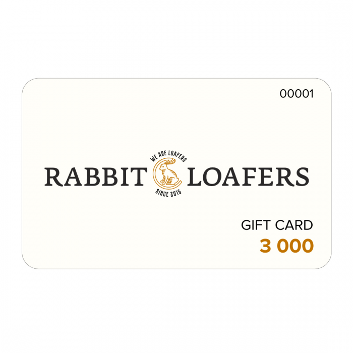 RABBIT LOAFERS - SHOP ONLINE Gift Card 3000 RTC-3000
