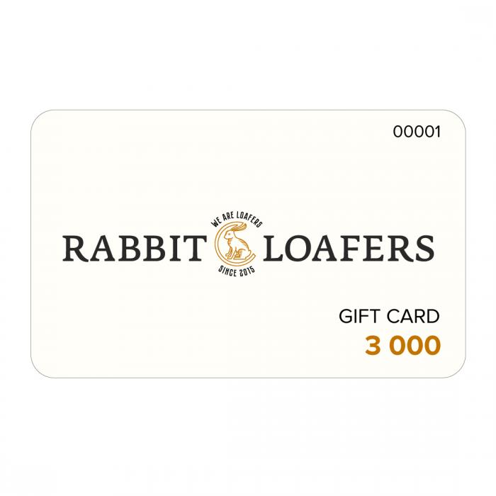 RABBIT LOAFERS  - Онлайн магазин женской и мужской обуви Подарочная карта 3000 RTC-3000