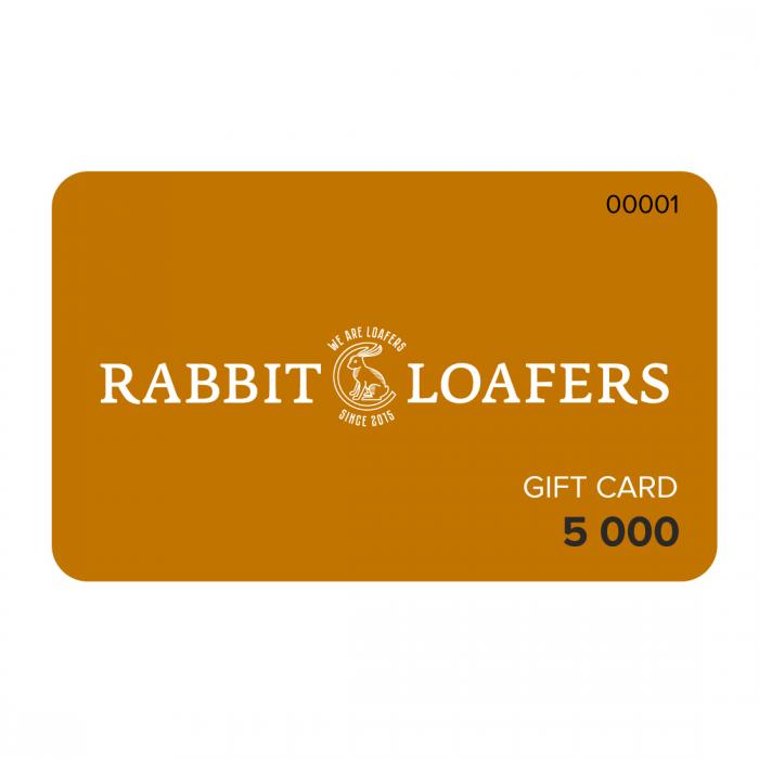 RABBIT LOAFERS  - Онлайн магазин женской и мужской обуви Подарочная карта 5000 RTC-5000
