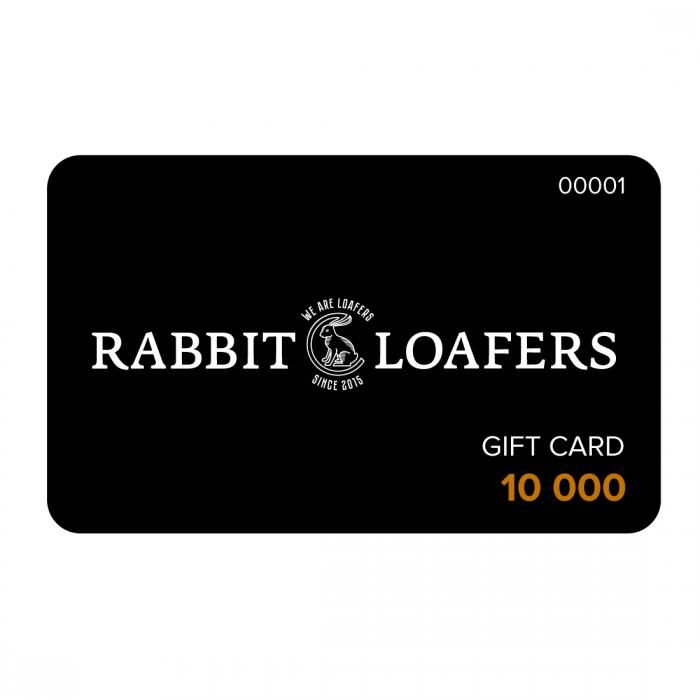 RABBIT LOAFERS  - Онлайн магазин женской и мужской обуви Подарочная карта 10 000 RTC-10000